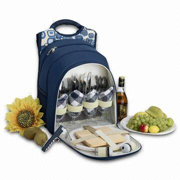 Insulated Picnic Backpack for 4-person