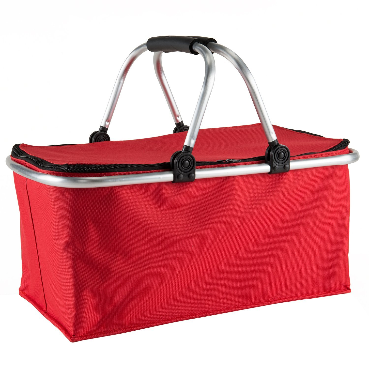 Foldable Insulated Shopper Basket with Round Aluminium Handle