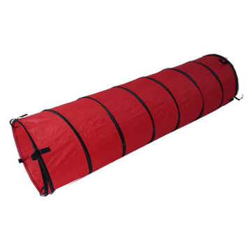 Foldable Spiral Pop up Red Polyester Baby Play Tunnel