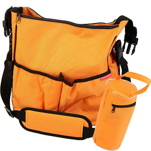 Wholesale Orange Polyester Mummy Diaper Bag for Baby or Infant