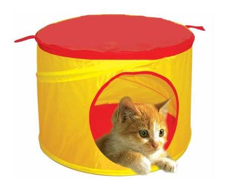 Orange Spiral Pop Up Pet Kennel for Dogs, Cats and Rabbits