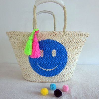 Straw Lady Shopping Beach Tote Bag