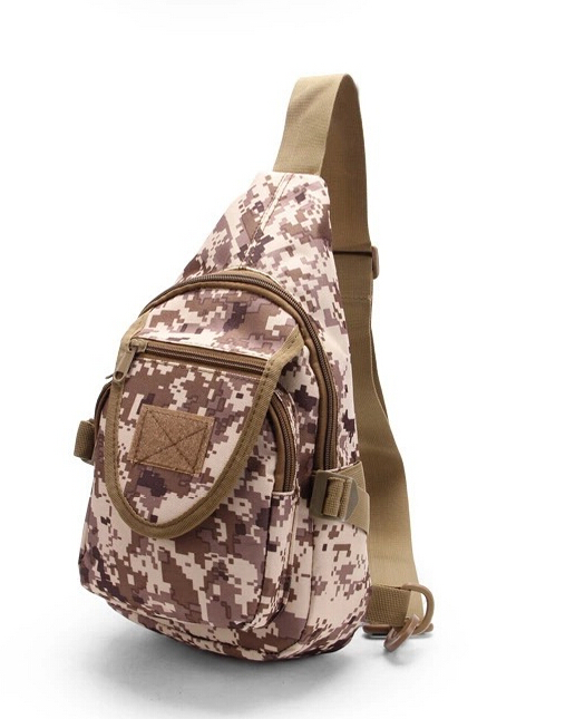 Outdoor Camflouged Triangle Military Shoulder Bag
