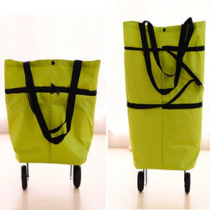Foldable Retractable Trolley Shopping Bag