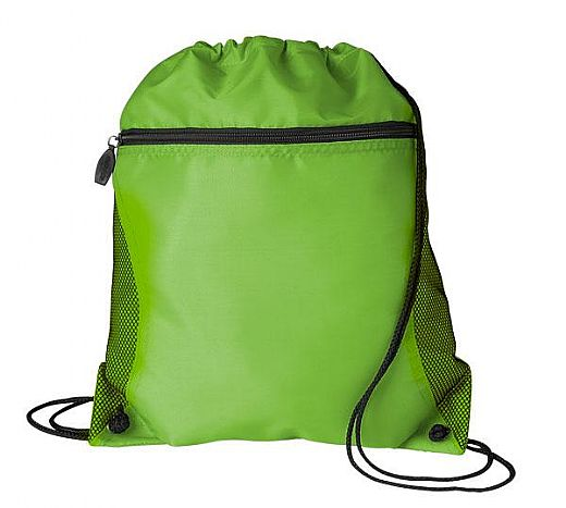Green 210D Oxford Drawstring Backpack Bag