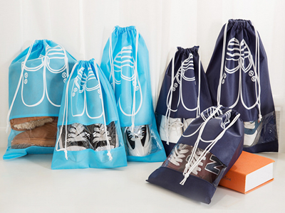 Promotional Non woven Drawstring Shoe Bag