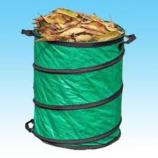 Foldable Pop Up Green PE Garbage Bag/Bin/Bucket/Hamper
