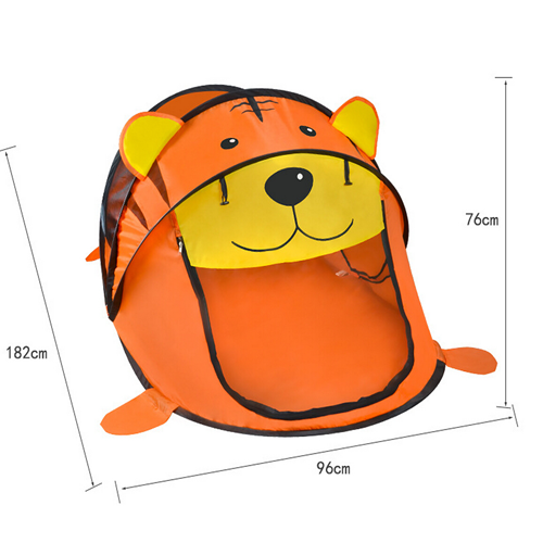 Large Folding Pop Up Cartoon Tiger Designed Kids Baby Play Tent