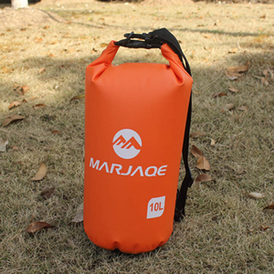 10L Orange Waterproof Dry Bag for boating, fishing and kayaking