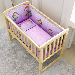 Eco-friendly Natural Wooden Baby Cot/Bed/Crib