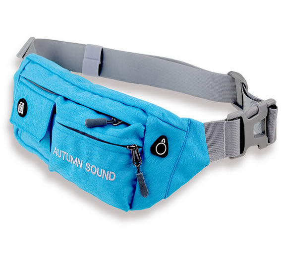 Heavy Duty Blue Canvas Waist Bag