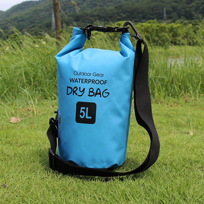 Small 5 Liter Blue Waterproof Ocean Pack With Welded Seam