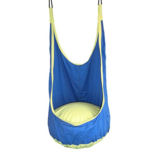Foldable Blue Canvas Cotton Hammock for Kids, Babies or Children