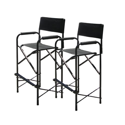Tall Black Director's Chair, Director Chair, Made of Aluminium Tube and 600D Polyester