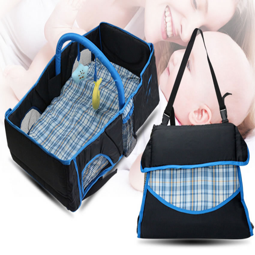 New Style Infant Baby Carry cot Bag, Baby Diaper Bag, Portable Newborn Travel Folding Cot