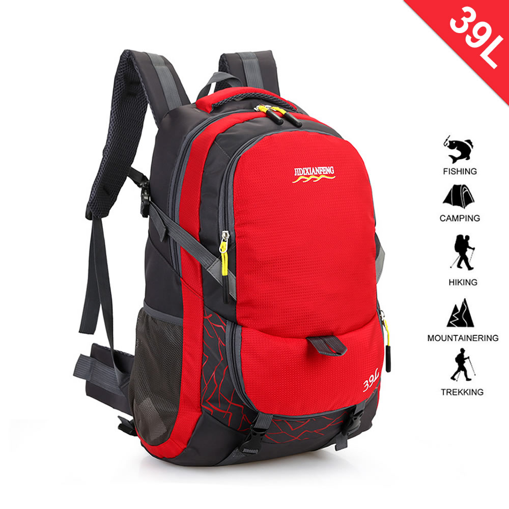 School Hiking Daypacks - College Student Outdoor Climbing Backpacks,39L Water Resistant Camping
